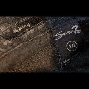Seven7 Jeans - Leather-look patterned jeans (14)